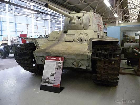 Танк КВ-1 с литой башней в танковом музее Бовингтона, Великобритания